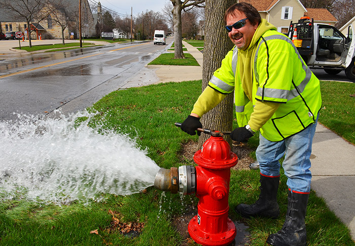 water department begins spring hydrant flushing bmu